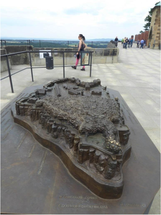 Bronze model of fortress