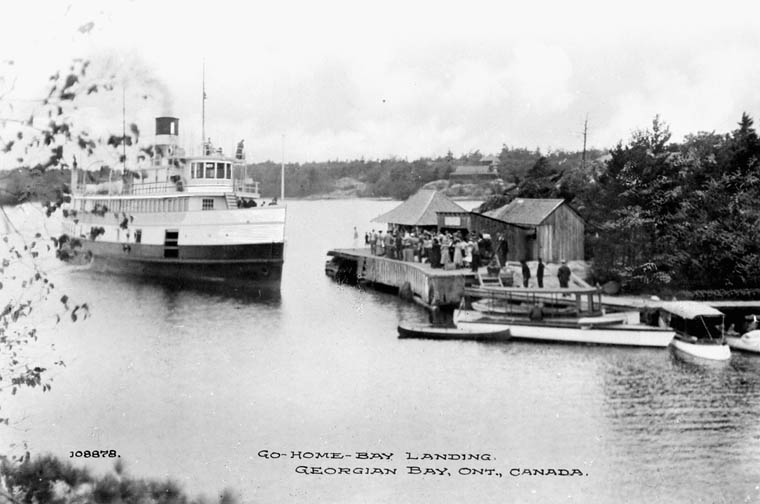 Waubic  -- one of the steamers that serviced Go Home Bay (ca. 1915)