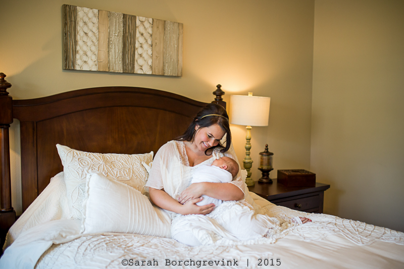 newborn home photography session