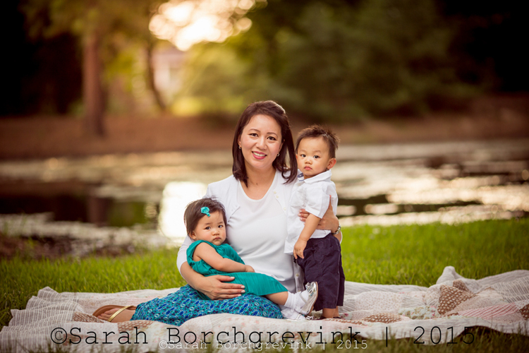 Golden hour family portraits in Tomball TX