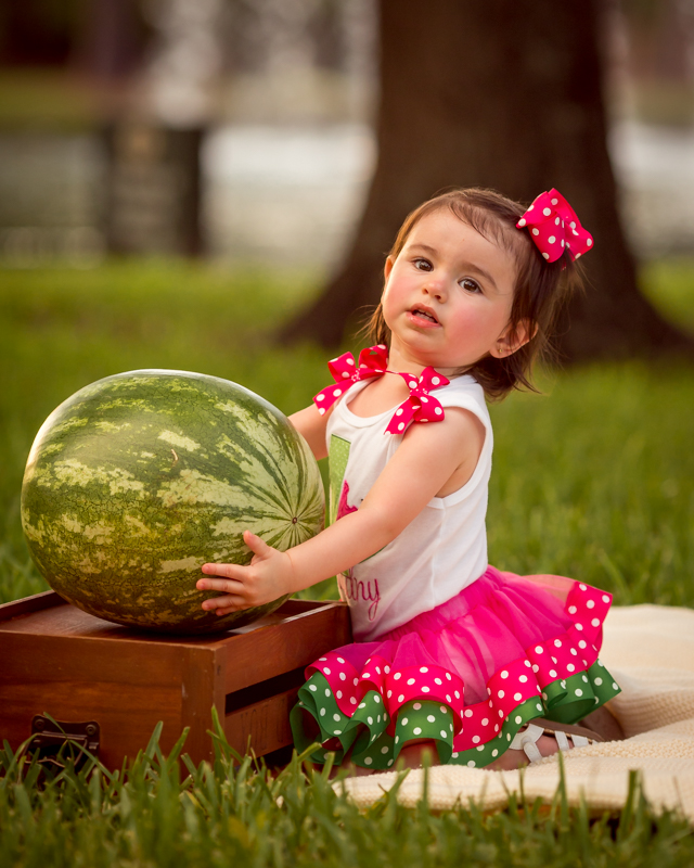 watermelon photography session