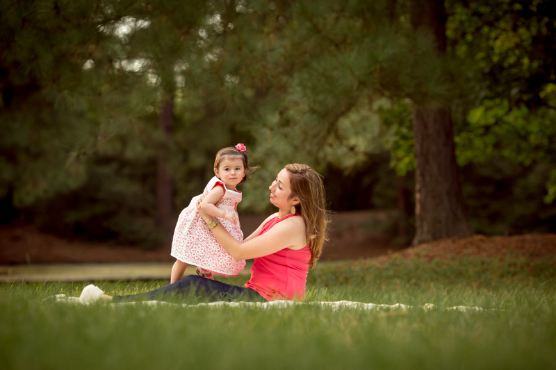 mother and daughter photography session