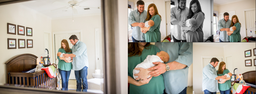 home lifestyle newborn photography session in houston texas