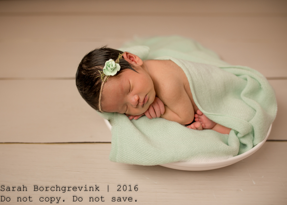 Vintage newborn photography session