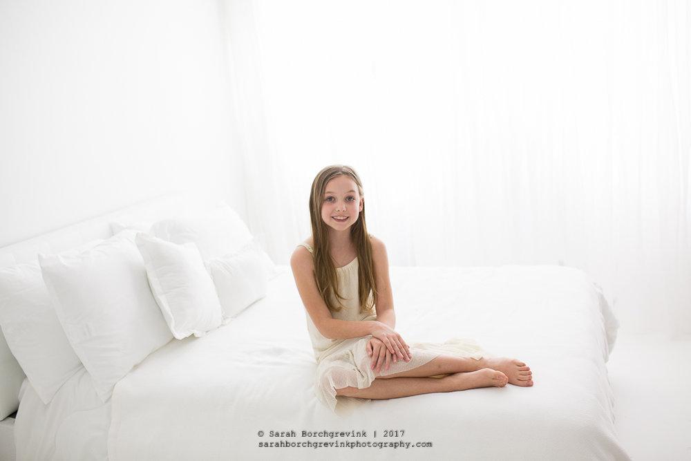 Houston Family Portraits | All White Studio