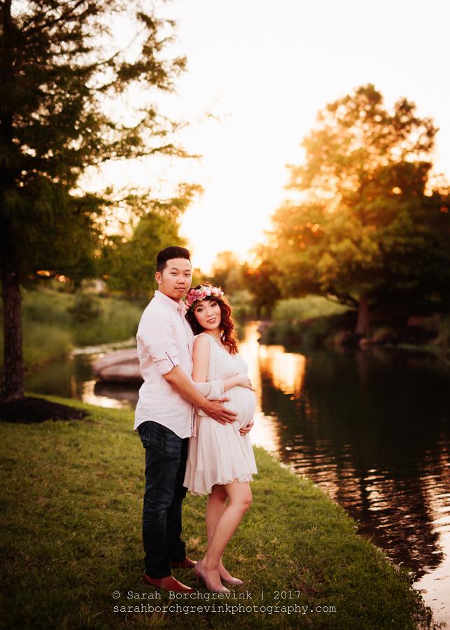 Romantic Couples Houston Maternity Session
