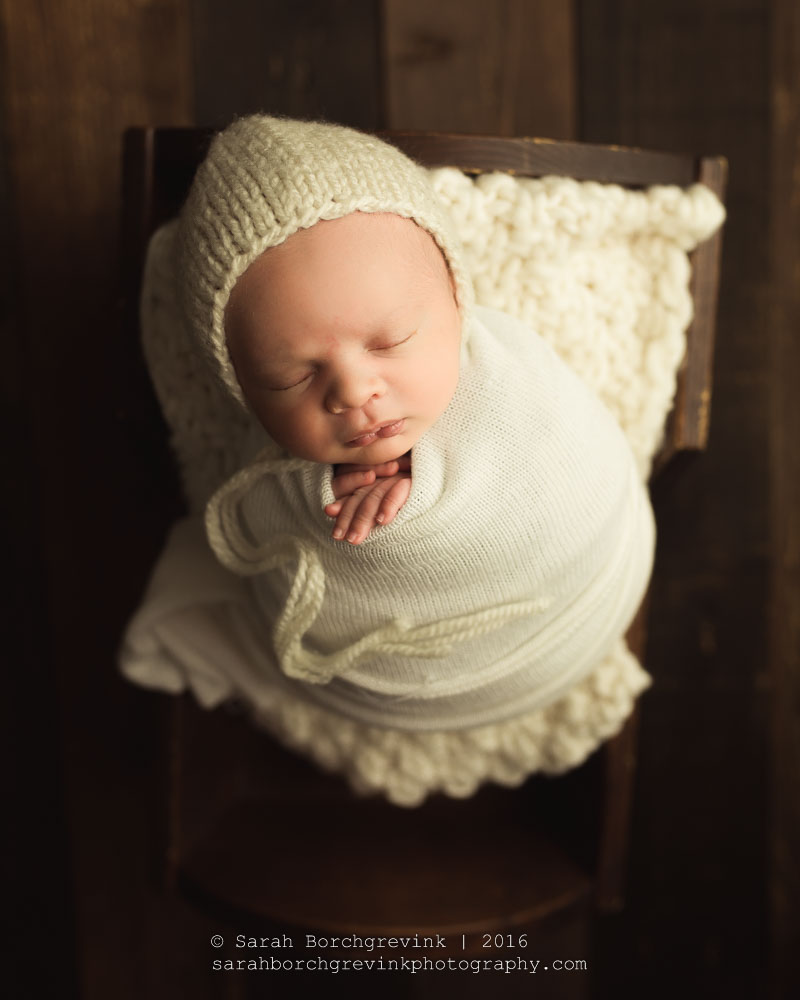 Newborn boy photo prop