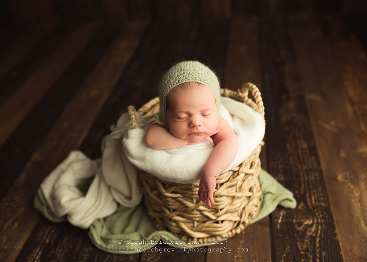Gorgeous Posed Newborn Styling through Vintage Inspired