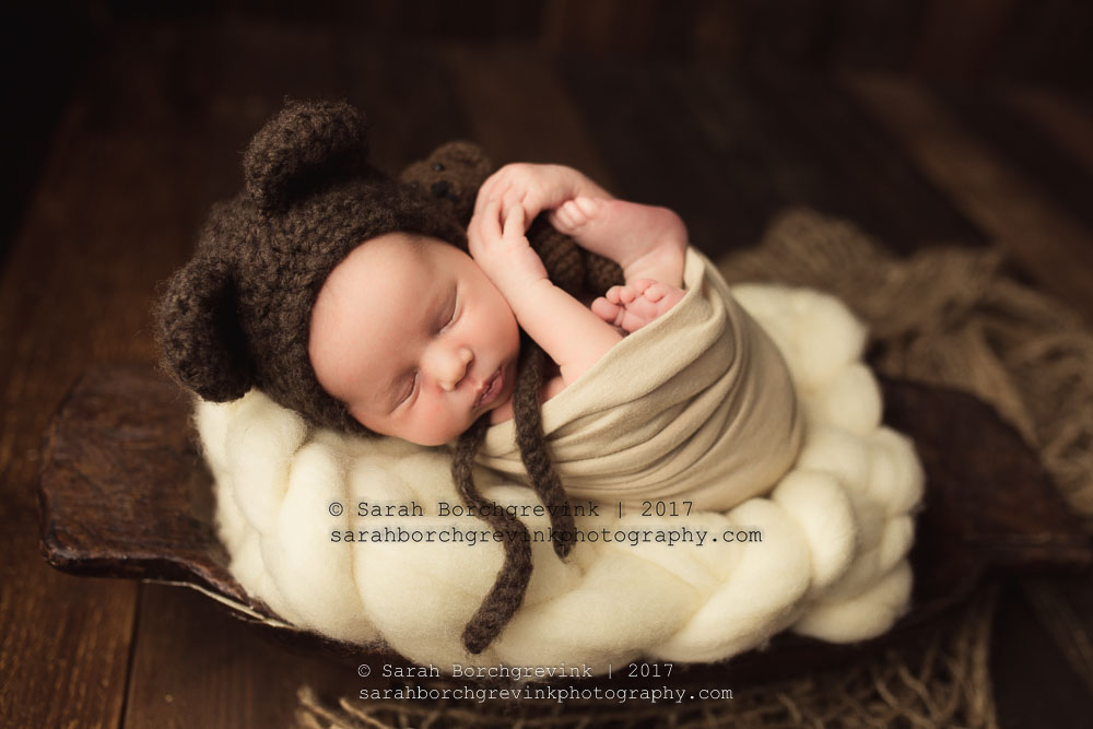 How to set up for a posed newborn session