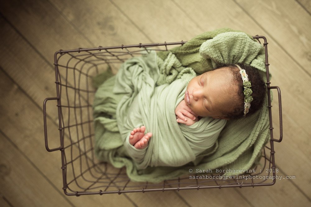 Tootsie Wrap During Newborn Session