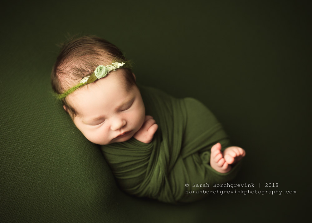 Adding a hat to your newborn session