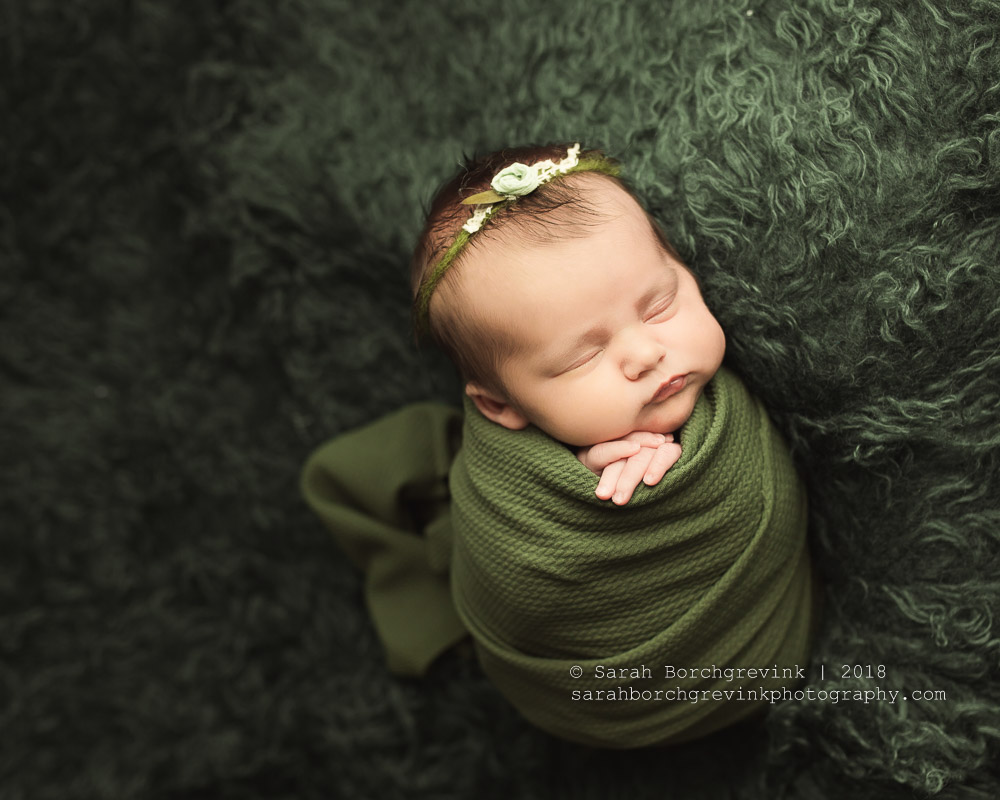 Newborn Potato sack pose