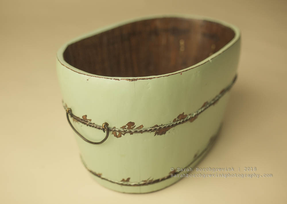 Newborn Photography Mint Bucket.