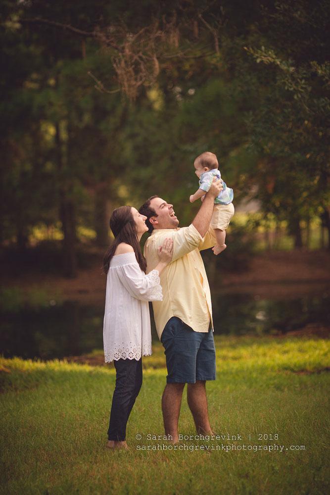outdoor family photography houston