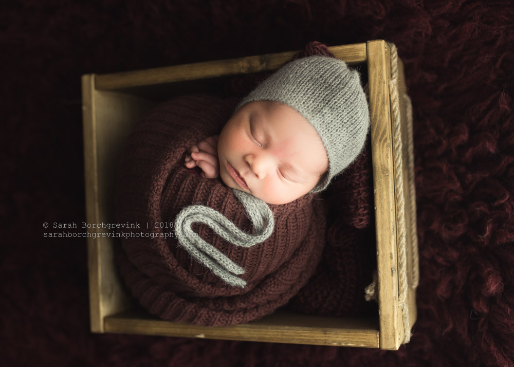 potato sack pose newborn photos