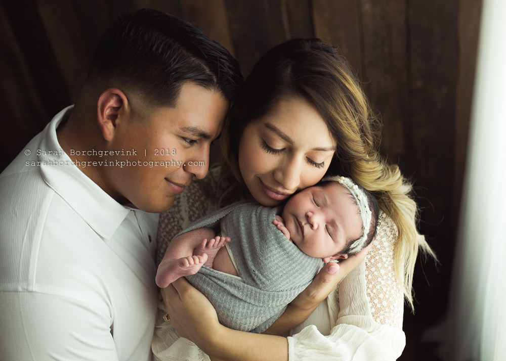 newborn and both parents photography