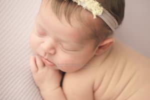 Up close macro image of baby's fac