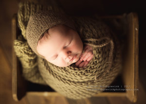 Rustic and natural newborn wrapping