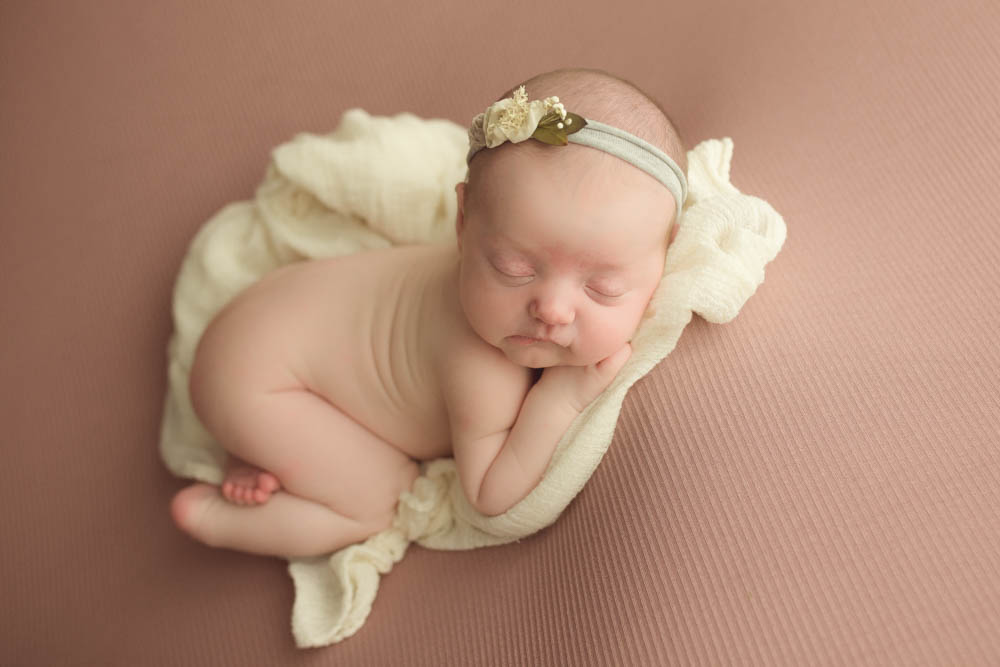 bean bag posing newborn portraits