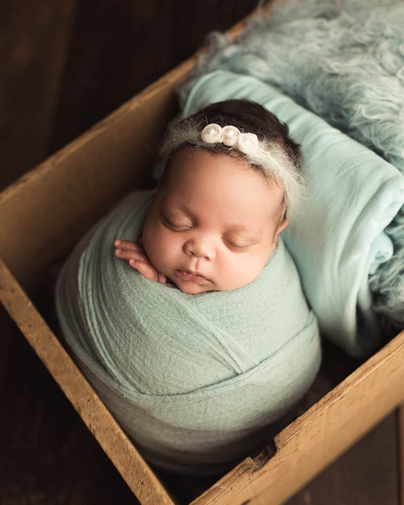 neutral infant headband with gorgeous beading