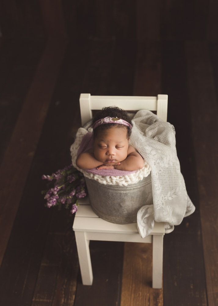 Spring Florals and Decor during Posed Newborn Photos