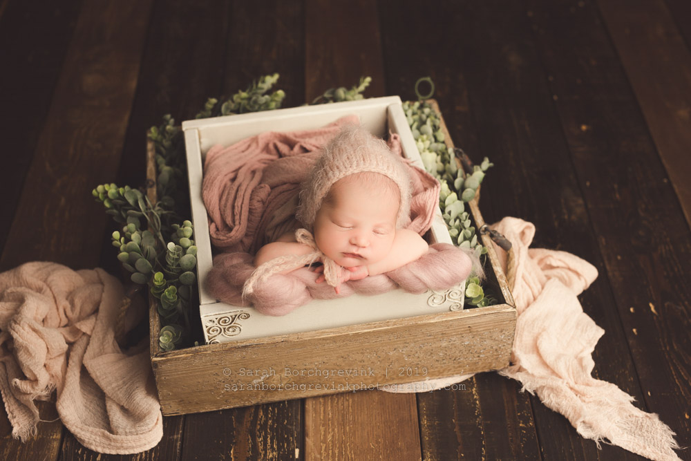fresh flowers with newborn photos ideas
