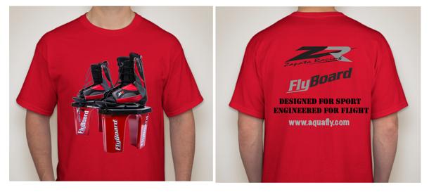 Digitally printed flyboard t shirt aquafly new orleans for T shirt printing new orleans