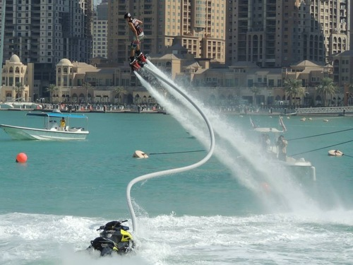 The exclusive Aquafly First-Time Flyer Program is designed to get you out of the water and up in the air easily and safely while under the complete supervision of a Certified Flyboard® Instructor. Next we'll outfit you with all necessary safety gear and pair you up one-on-one with an Instructor who will go over some final pre-flight details
