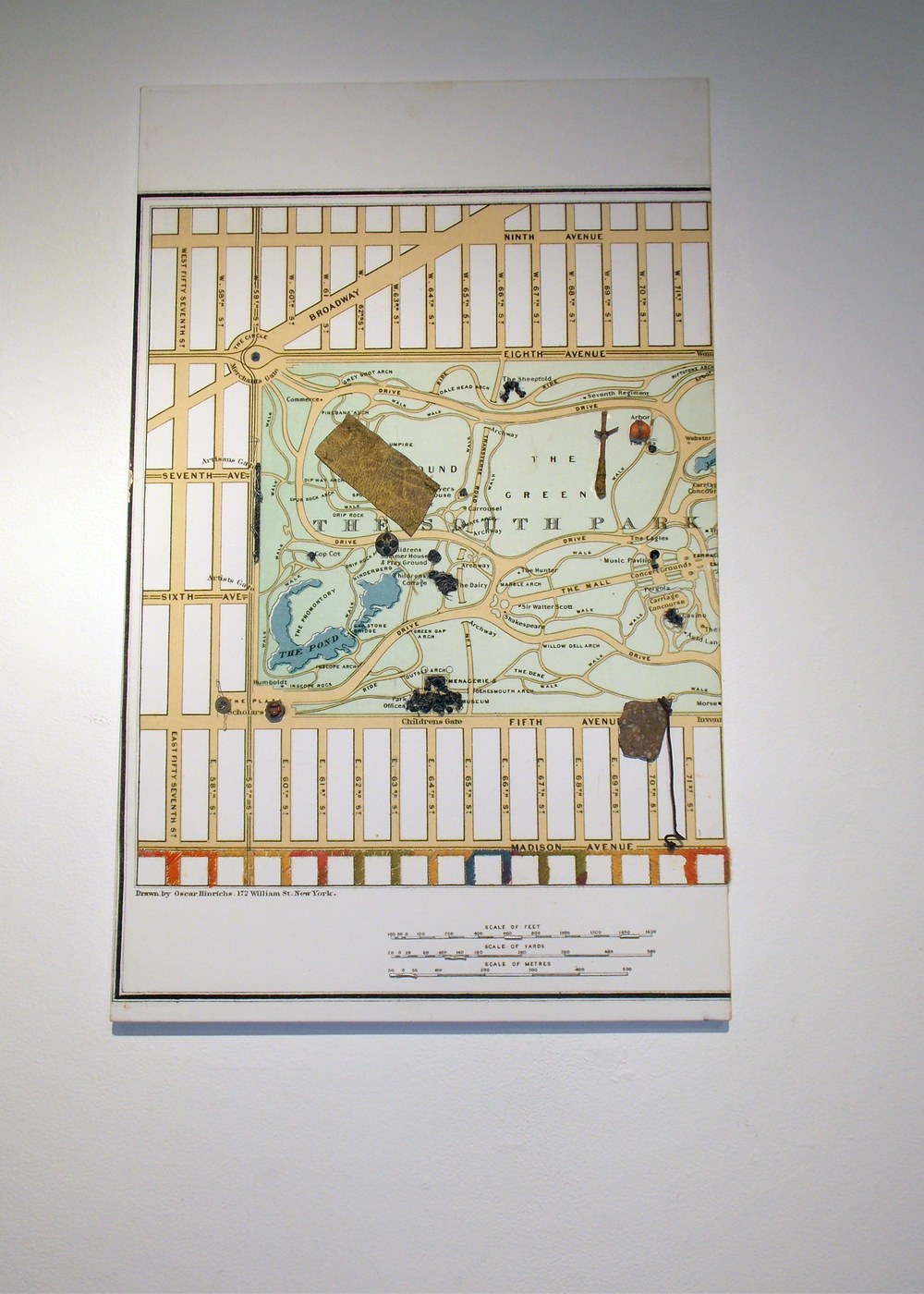 """Central Park Map Painting"""