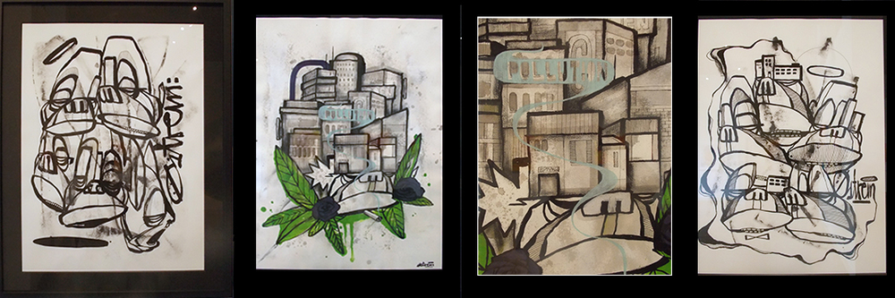 Some of Atle's paintings on paper