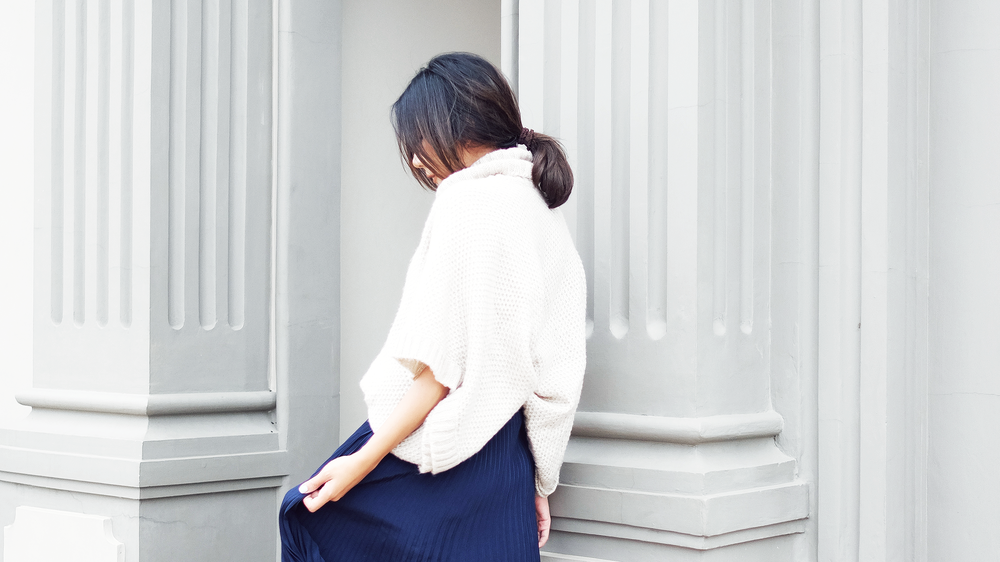 #youxcottonink - pleated skirt