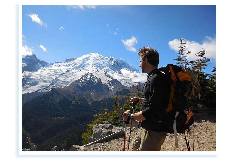 Backpacking near Mt. Rainier.