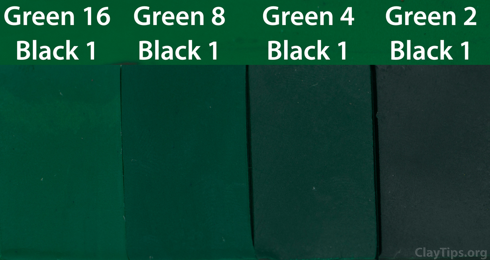Green and Black Plasticine