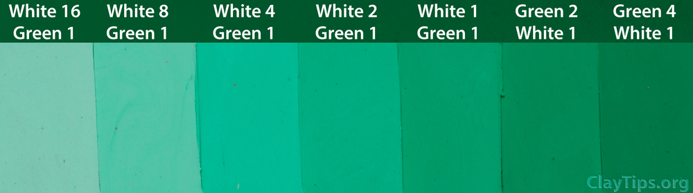 Green and White Plasticine