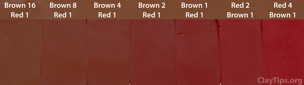 Brown and Red Plasticine