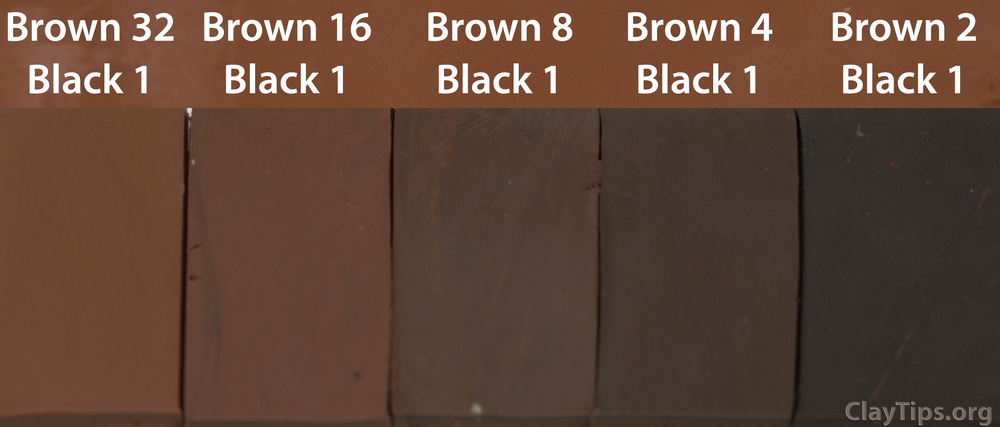 Brown and Black Plasticine