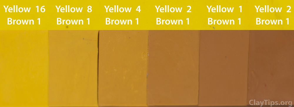 Yellow and Brown Plasticine