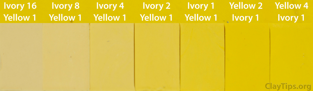 Yellow and Ivory Plasticine