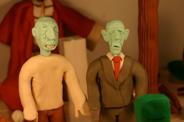 Zombies.  For a claymation.