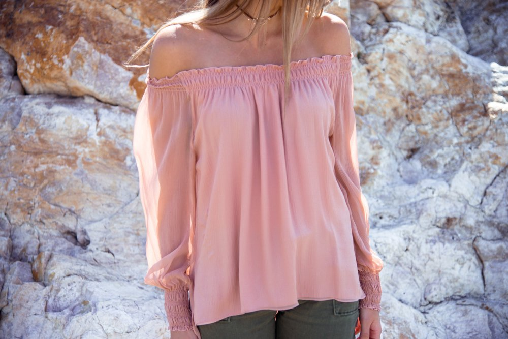 Elizabeth & James 'Michela' Dropped Sleeve Blouse