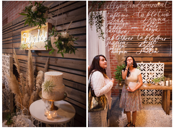 JL Designs +Beijos Events + Monvoir Calligraphy at The Cream Event