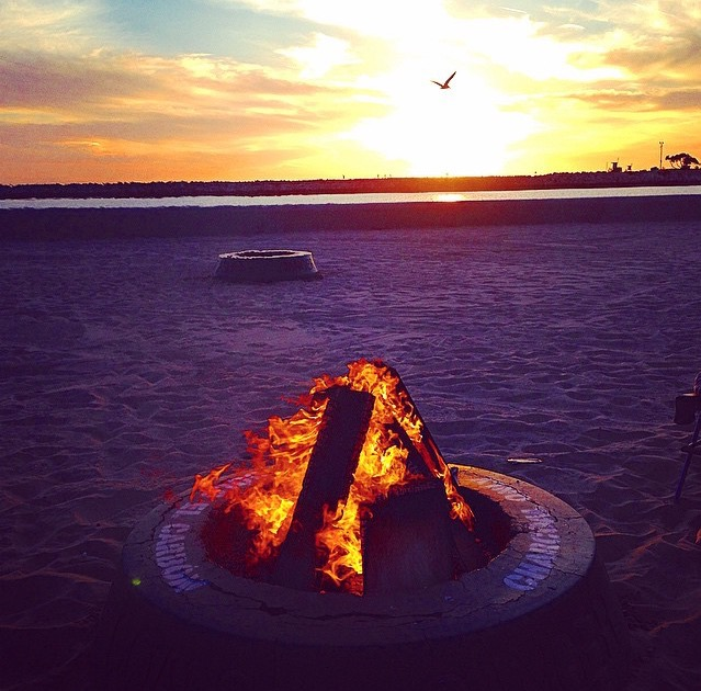 Bonfire at Big Corona, Corona Del Mar