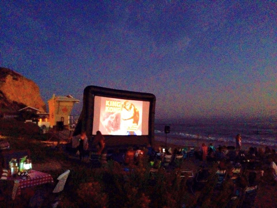 Movie night at The Beachcomber, Corona Del Mar