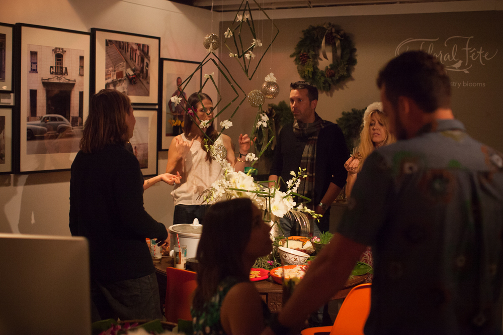 Hawaiian Holiday Office Party at SOURCED. Laguna Beach