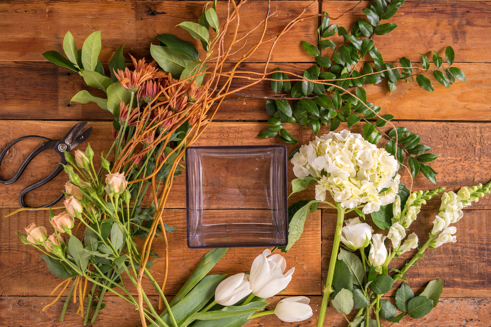 Fall Inspired Arrangement for Thanksgiving by Floral Fete