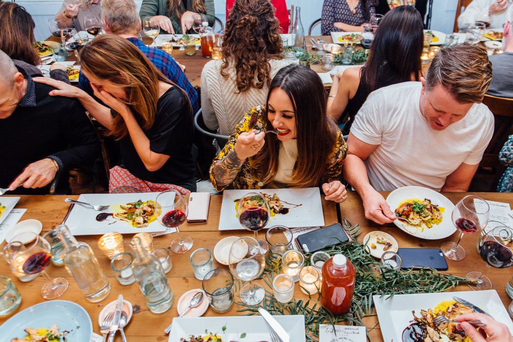 Lark Pop Up Dinner at SOURCED. Laguna Beach, CA. Photos by Kendal Riley