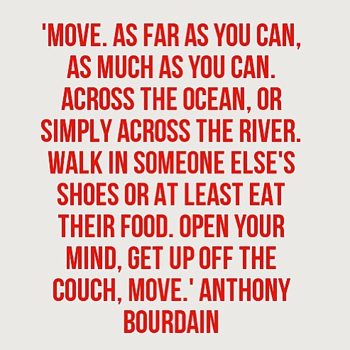 "Woke up 💔 May you Rest In Peace & always stay wild. I love that I took the opportunity when I did to meet you & tell you you were ""on my list"" ❤️ #anthonybourdain"