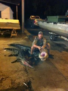 Our friend Mitchell Munroe and his Okeechobee gators.