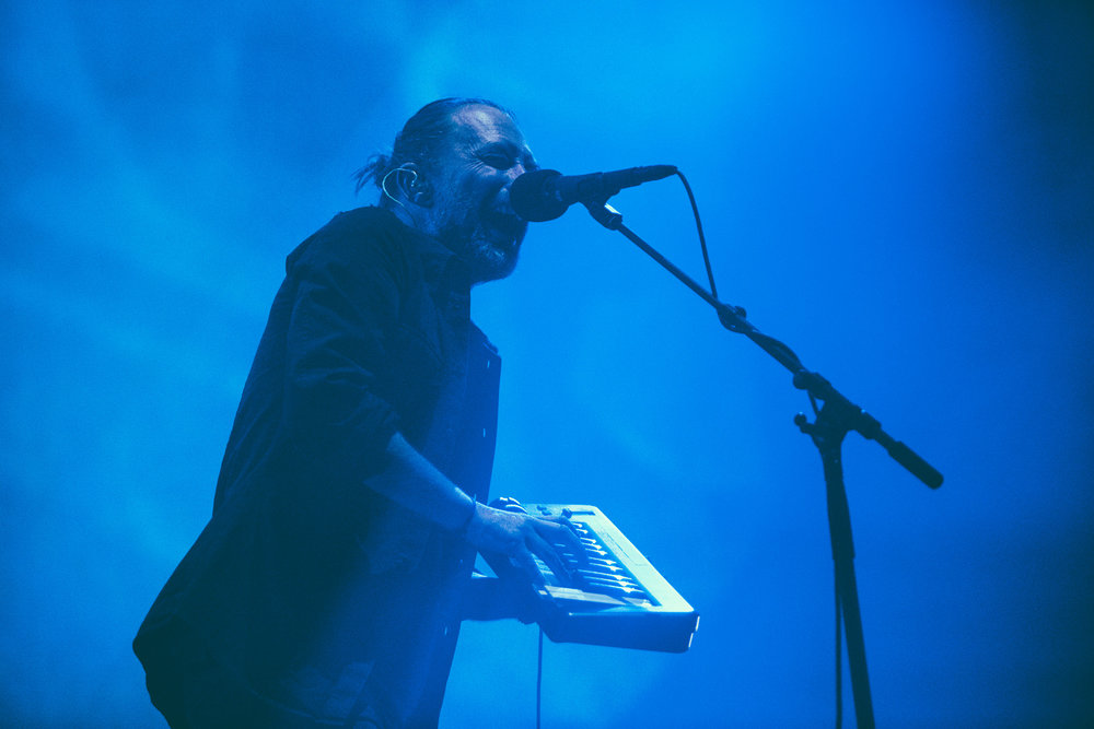 Thom Yorke of Radiohead performs in concert at Philips Arena in Atlanta, Georgia.   (Photo by David A. Smith/DSmithScenes)