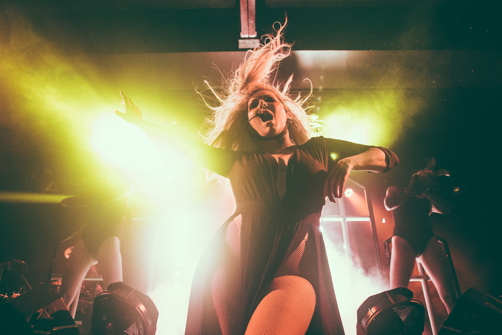 Maria Brink of In This Moment performs in concert at Iron City in Birmingham, Alabama on May 2nd, 2017. (Photo by David A. Smith/DSmithScenes)
